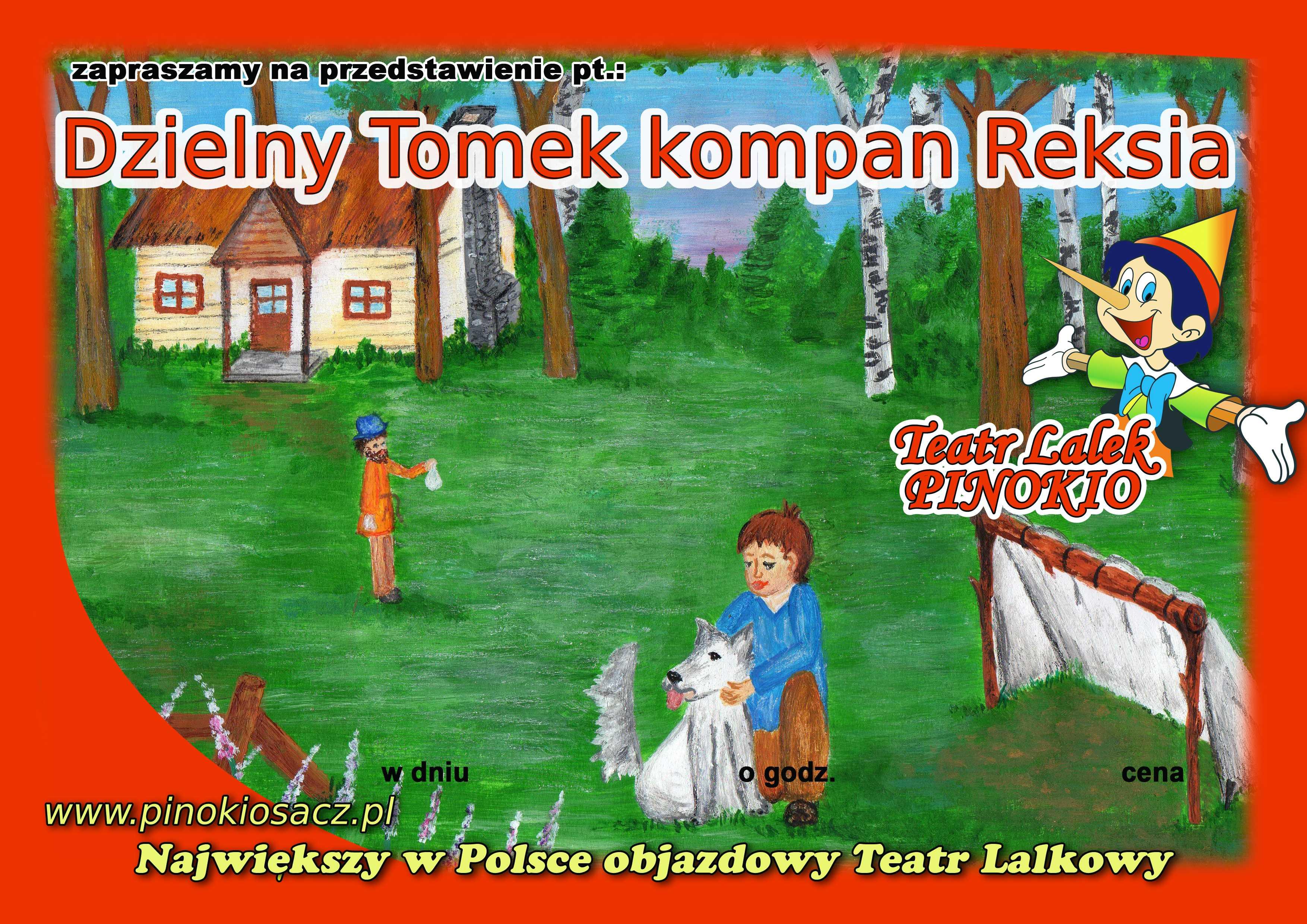 Dzielny Tomek Kompan Reksia Teatr Lalek Pinokio www.pinokiosacz.pl, spektakle dla dzieci