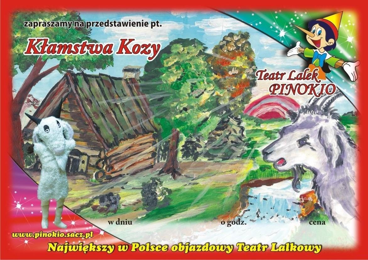 Kłmstwa Kozy Teatr Lalek Pinokio www.pinokiosacz.pl, spektakle dla dzieci