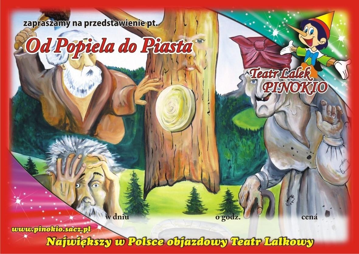 Od Popiela do Piasta Teatr Lalek Pinokio www.pinokiosacz.pl, spektakle dla dzieci