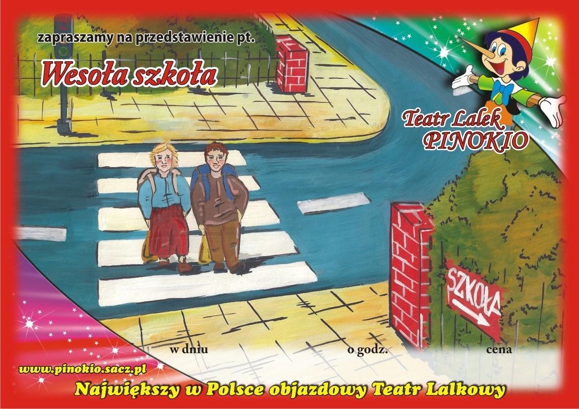 Wesoła Szkoła Teatr Lalek Pinokio www.pinokiosacz.pl, spektakle dla dzieci