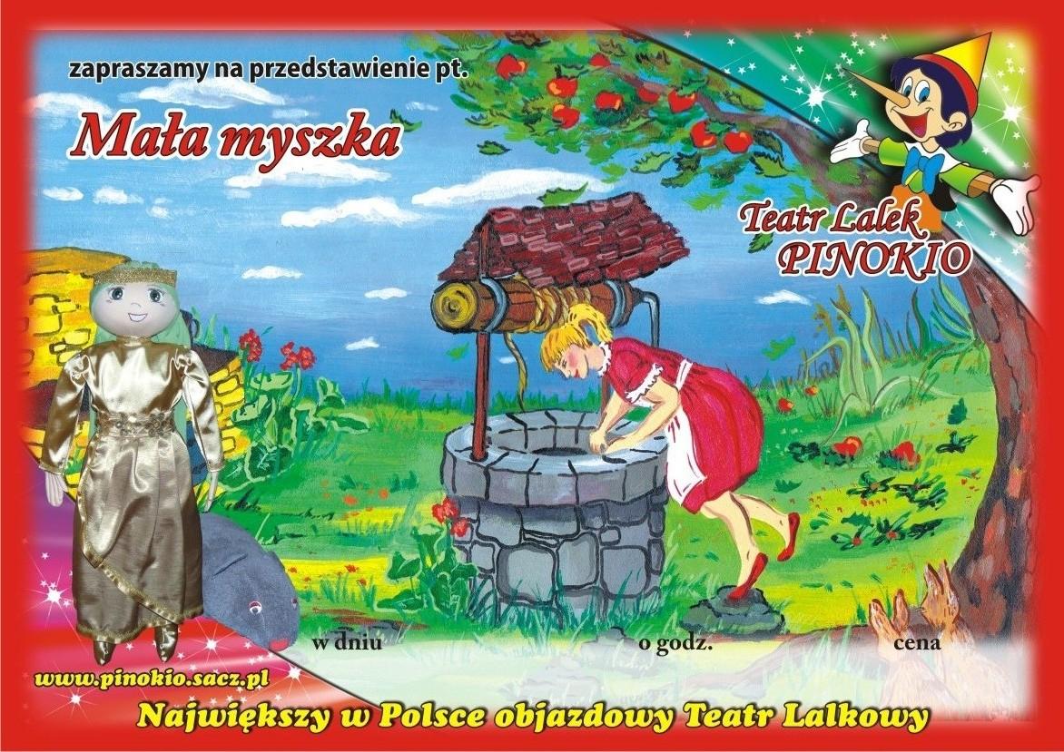 Mała Myszka Teatr Lalek Pinokio www.pinokiosacz.pl, spektakle dla dzieci