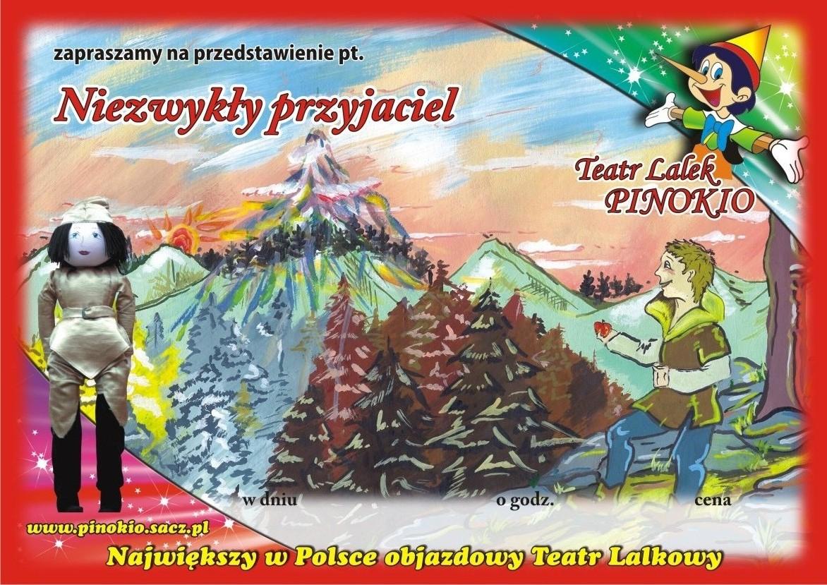 Niezwykły Przyjaciel Teatr Lalek Pinokio, spektakle dla dzieci, www.pinokiosacz.pl