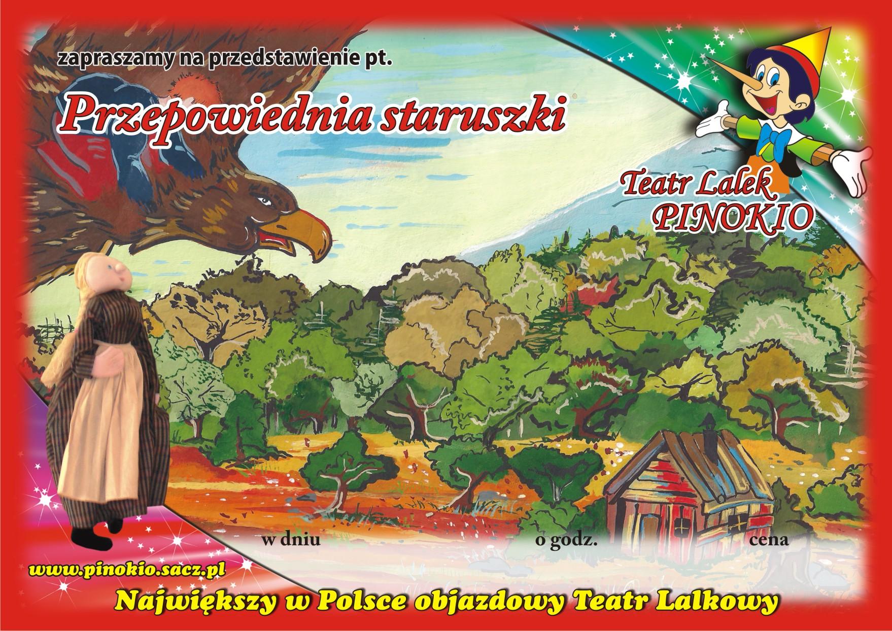Przepowiednia Staruszki Teatr Lalek Pinokio www.pinokiosacz.pl, spektakle dla dzieci