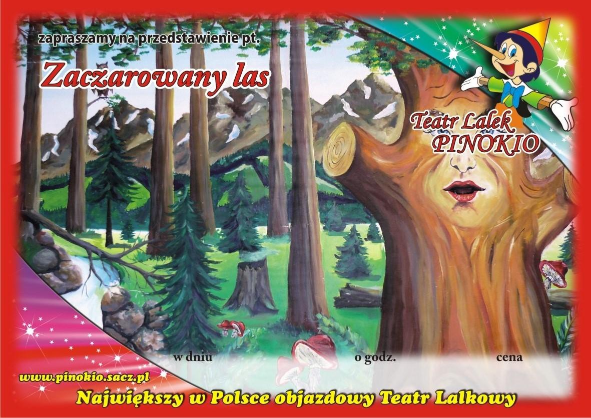 Zaczarowany Las Teatr Lalek Pinokio www.pinokiosacz.pl, spektakle dla dzieci