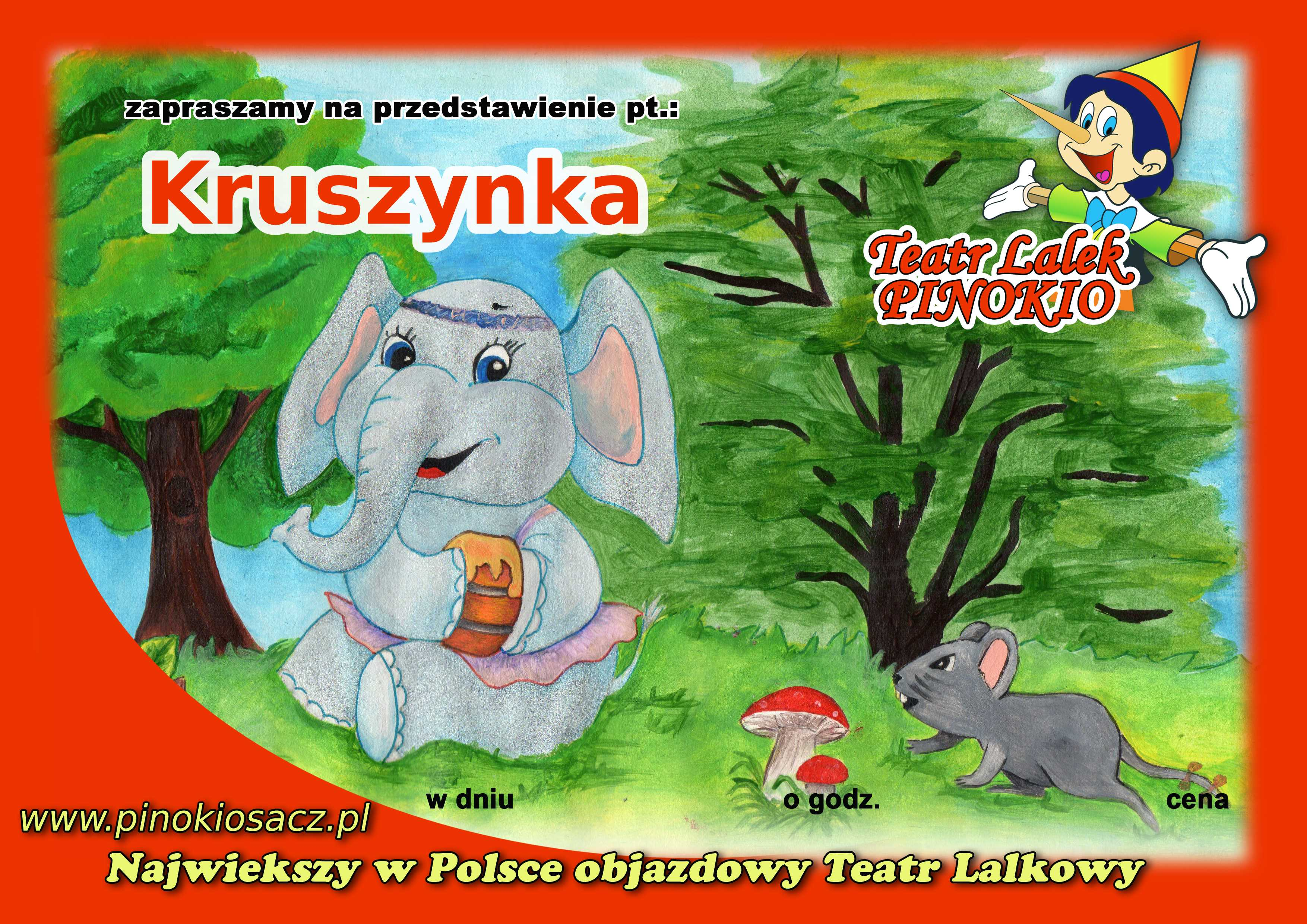 plakat Kruszynka Teatr lalek Pinokio